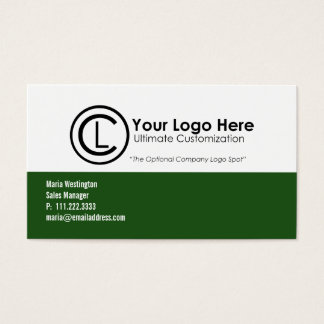 Simple Green Logo Business Cards
