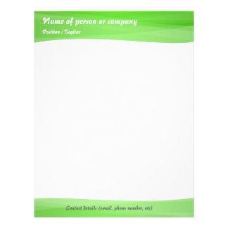 Simple Green Modern Letterhead