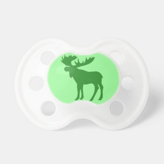 Simple green moose theme baby pacifier
