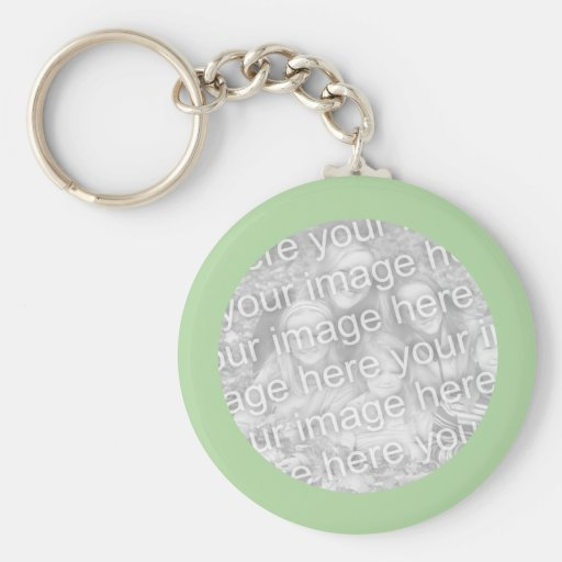 Simple Green photo frame Keychains