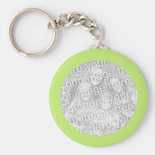 Simple Green photo frame Key Chain
