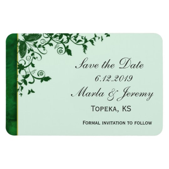 Simple green save the date magnet