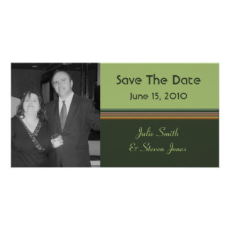 simple green save the date photo card