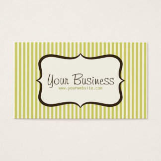 Simple Green Stripe Business Card