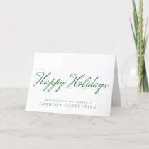 Simple Green Typography | Holiday Greetings