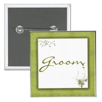 Simple Green Wedding Design Pin