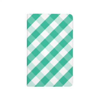 Simple Green white St Patrick gingham pattern Journal