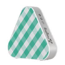 Simple Green white St Patrick gingham pattern Speaker