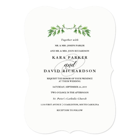 Gallery Minimalist Wedding Invitations: Minimalist Wedding Invitation