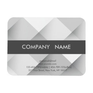 Simple Grey Abstract Mosaic busines card magnet