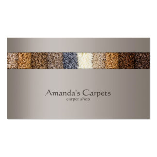 Simple Grey Carpet Shop Card Double-Sided Standard Business Cards (Pack Of 100)
