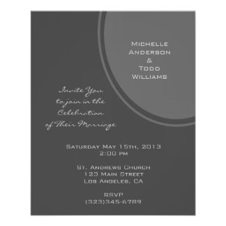 Simple Grey Circle Wedding Flyer