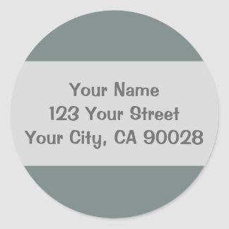 simple grey color classic round sticker
