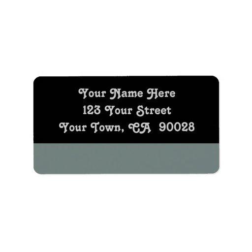 simple grey color custom address label