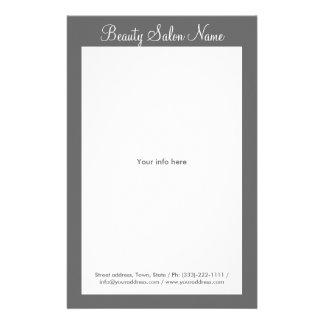 Simple Grey Hair Stylist/Cosmetologist Price List Flyer