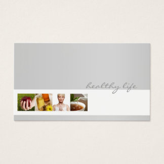 Simple Grey Minimalistic Nutrition Coach Card