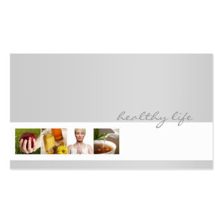 Simple Grey Minimalistic Nutrition Coach Card Double-Sided Standard Business Cards (Pack Of 100)