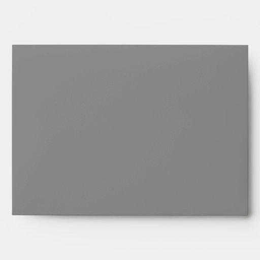 Simple Grey Modern Wedding Envelopes