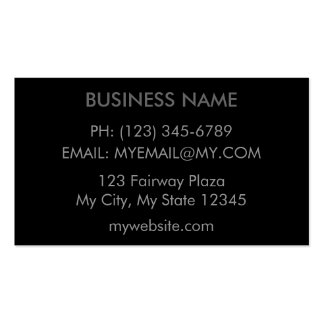 Simple Grey on Black Business Card Template