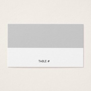 Professional Business Simple grey place cards - flat