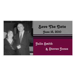 simple grey save the date card