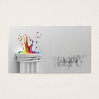 Simple Grey School Of Art - Art Teacher Card
