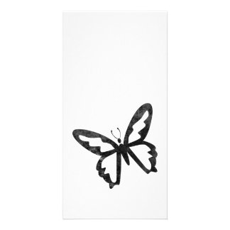 Simple Grungy Black Butterfly Card