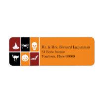 Simple Halloween Icons Return Address Return Address Label