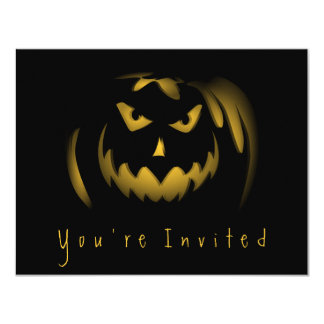 Simple Halloween Party Adult Invitations