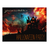 Simple Halloween Party Child or Adult Invitations