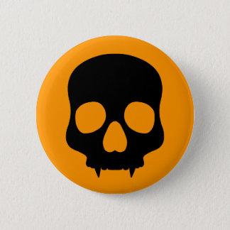Simple Halloween skull Button