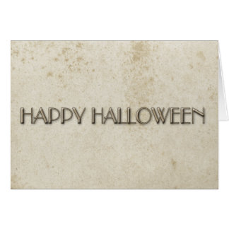 Simple Halloween Vintage Stained Paper Card
