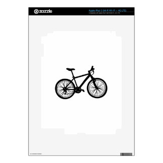 Simple hand drawn doodle of bicycle in black and w decals for iPad 3