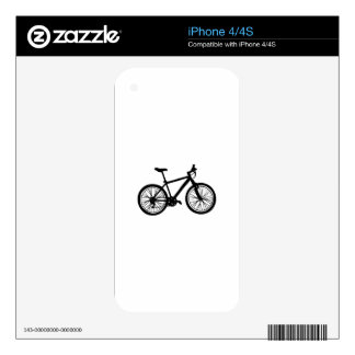 Simple hand drawn doodle of bicycle in black and w skins for the iPhone 4