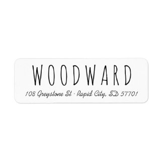 Simple Handletter Script Return Address Labels