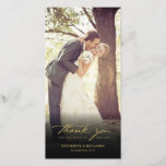 """Simple Handwrite Script Classy Wedding Thank You<br><div class=""""desc"""">Simple Handwrite Script Classy Wedding Thank You Photo Card. This modern and classy 8&quot; x 4&quot; photo card features a classic handwriting calligraphy ivory white &#39;thank you&#39; script in a minimalist design layout with a full bleed photo. You can easily personalize it with your favorite wedding photo. You can also...</div>"""