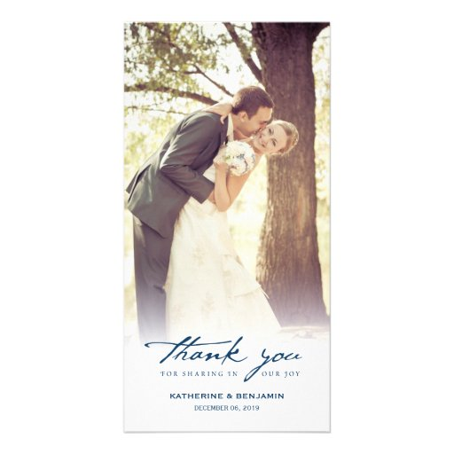 simple handwrite script classy wedding thank you card zazzle