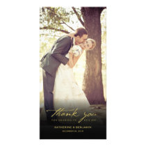 Simple Handwrite Script Classy Wedding Thank You Card