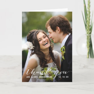 Simple Handwriting | Wedding Photo Thank You Card