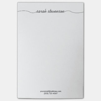 Simple Handwritten Script Typography Professional Post-it® Notes