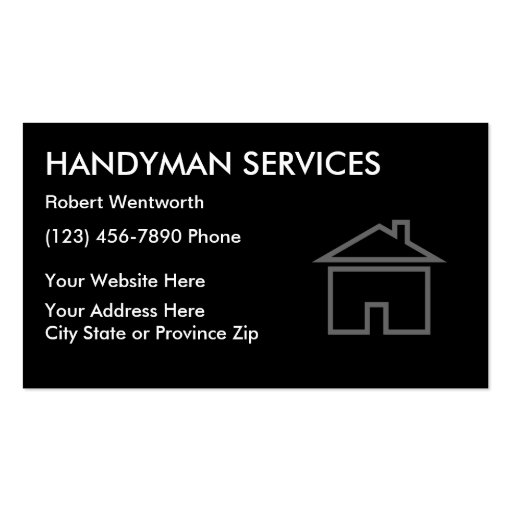 handyman services business cards