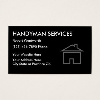 Simple Handyman Business Cards