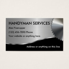 Simple Handyman Business Cards at Zazzle