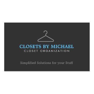 Simple Hanger Logo for Closet Organization, etc. Business Card