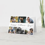 Simple Happy Fathers Day 6 Photo Collage Holiday Card