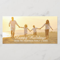 Simple Happy Holidays - Photo Card