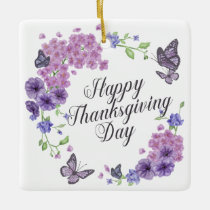 Simple Happy Thanksgiving Butterflies | Ornament