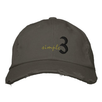 Simple Hat Embroidered Hats