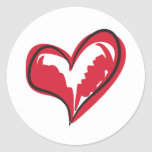 Simple Heart Classic Round Sticker