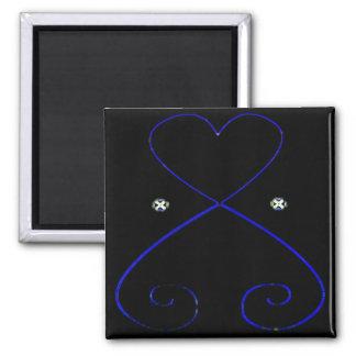 Simple Heart Magnet Black Velvet